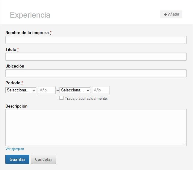 informacion experiencia linkedin