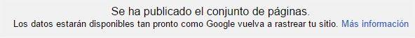 confirmacion marcador de datos de google