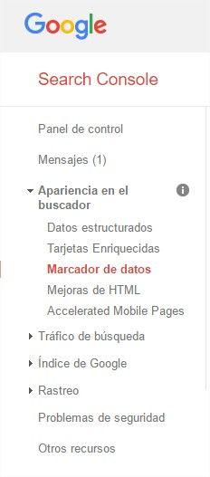 marcado datos google seo webmaster tools