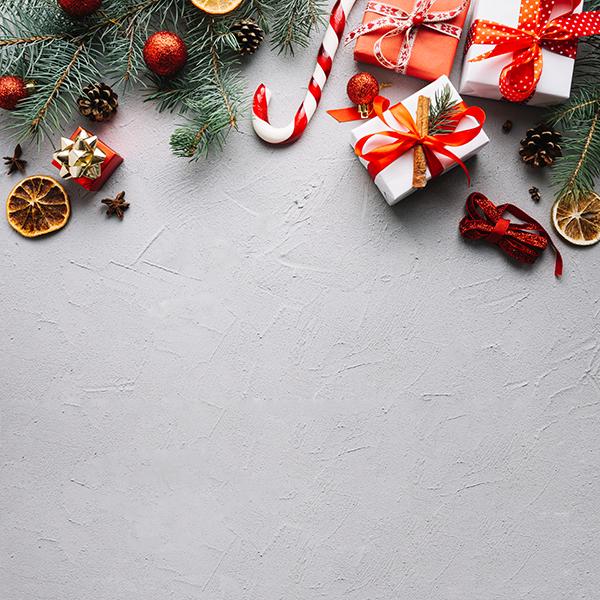 Composición navidad ideal para postal de navidad