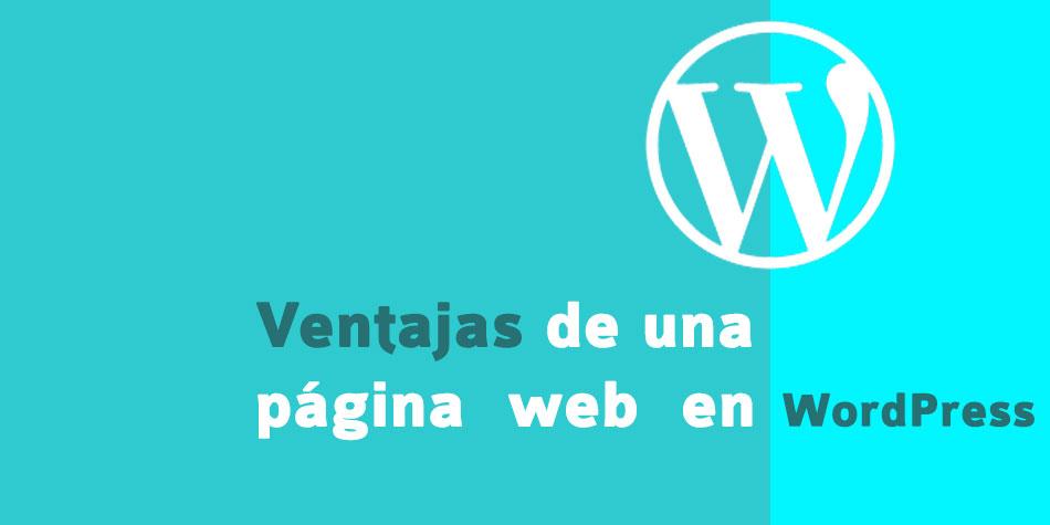 Ventajas de una página en wordpress