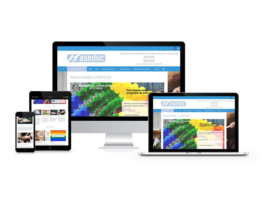Ejemplo de página web responsive, adaptada a dispositivos