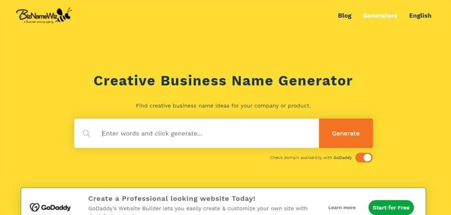 buscar nombre empresa bizname